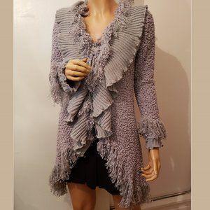 Lapis gray cardigan, size M.